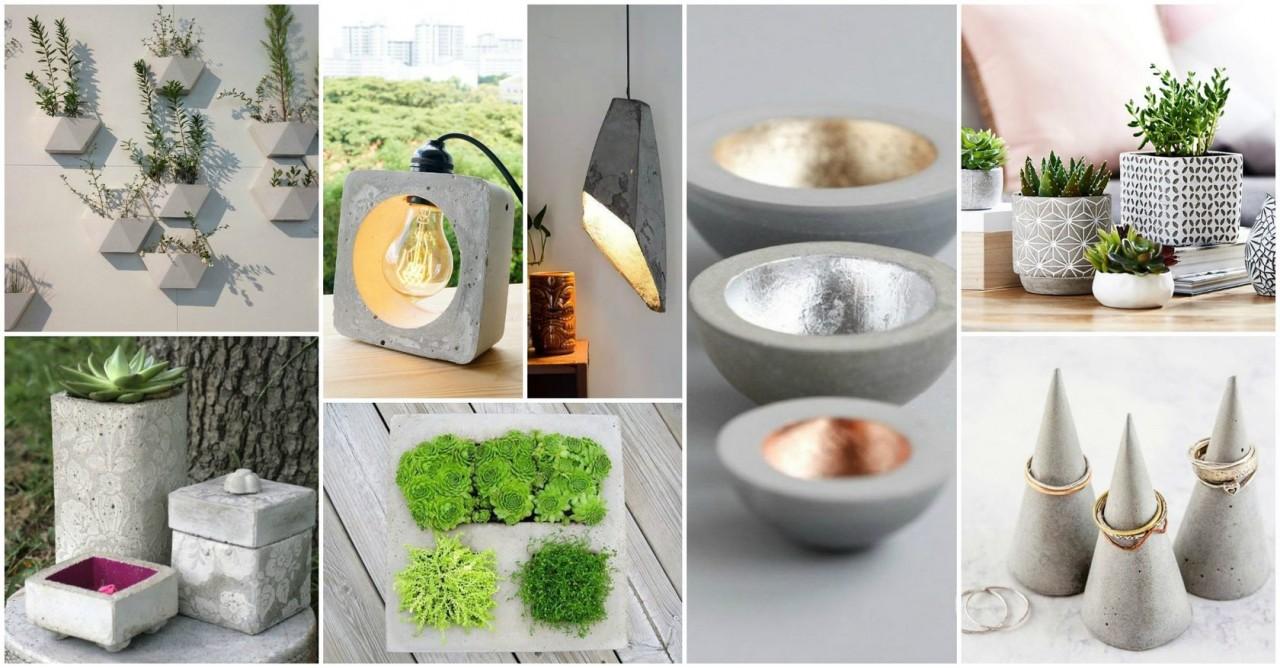 17 очень крутых идей из цемента и гипса, которые можно сделать дома