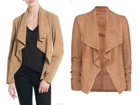 Выкройка куртки из тонкой кожи или трикотажа