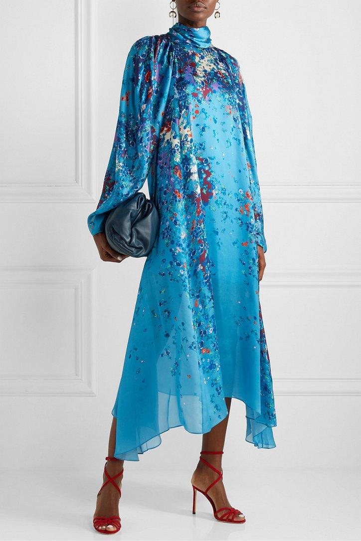 Платья с цветочным принтом - наш ответ серым осенним будням фото №8