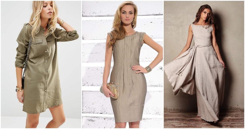 Модные льняные платья: удобно, стильно и самодостаточно