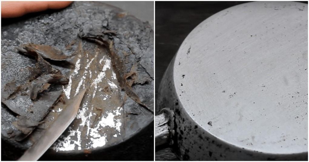 Как удалить полувековой нагар со сковороды не сложным способом
