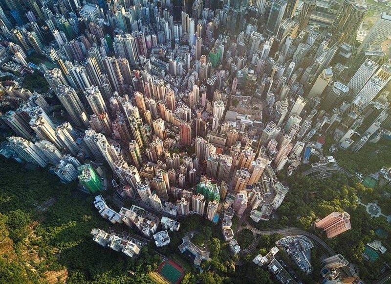 Вид на Гонконг с пика Виктория, высочайшей точки города виды, города, китай, красота, необыкновенно, пейзажи, удивительно, фото