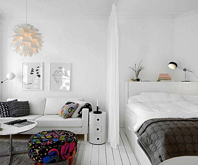 дизайн гостиной спальни текстиль