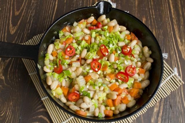Тушим овощи 7 минут