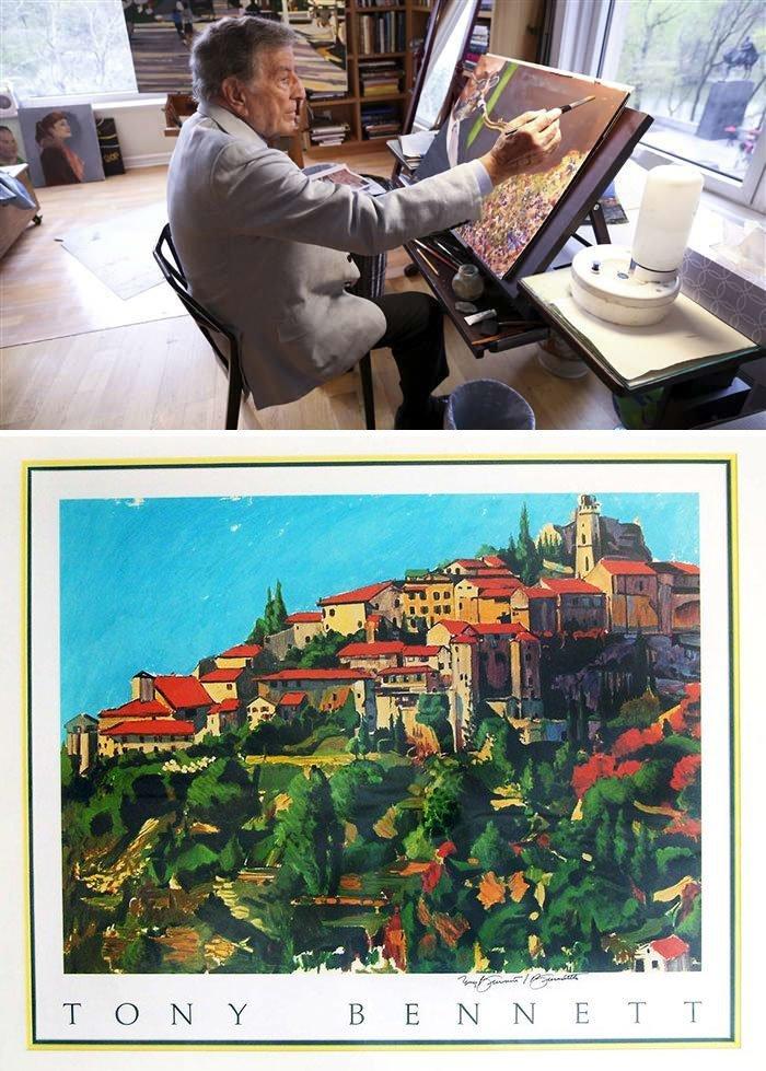 Тони Беннет живопись, звезды, знаменитости, кино, многогранный талант, неожиданное увлечение, художники, эстрада