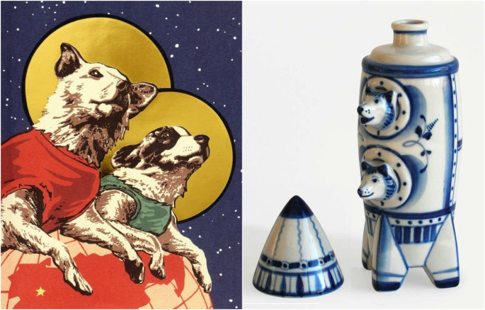 Открытки собаки белка и стрелка