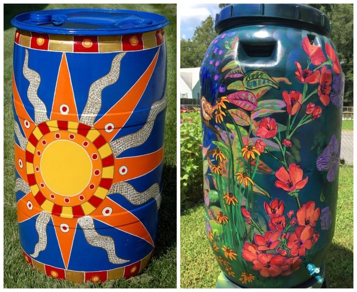 Раскрасить или спрятать: решаем судьбу бочки для воды декор,для дома и дачи