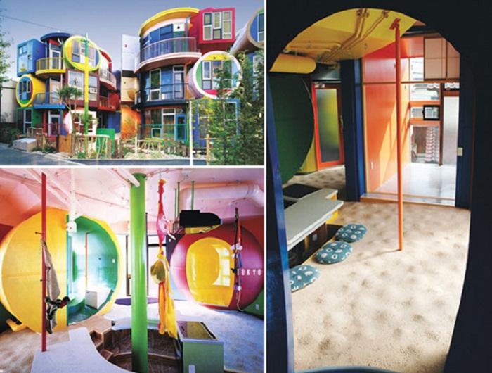 Непривычные условия проживания в доме с большими сюрпризами (Reversible-Destiny Lofts, Токио).