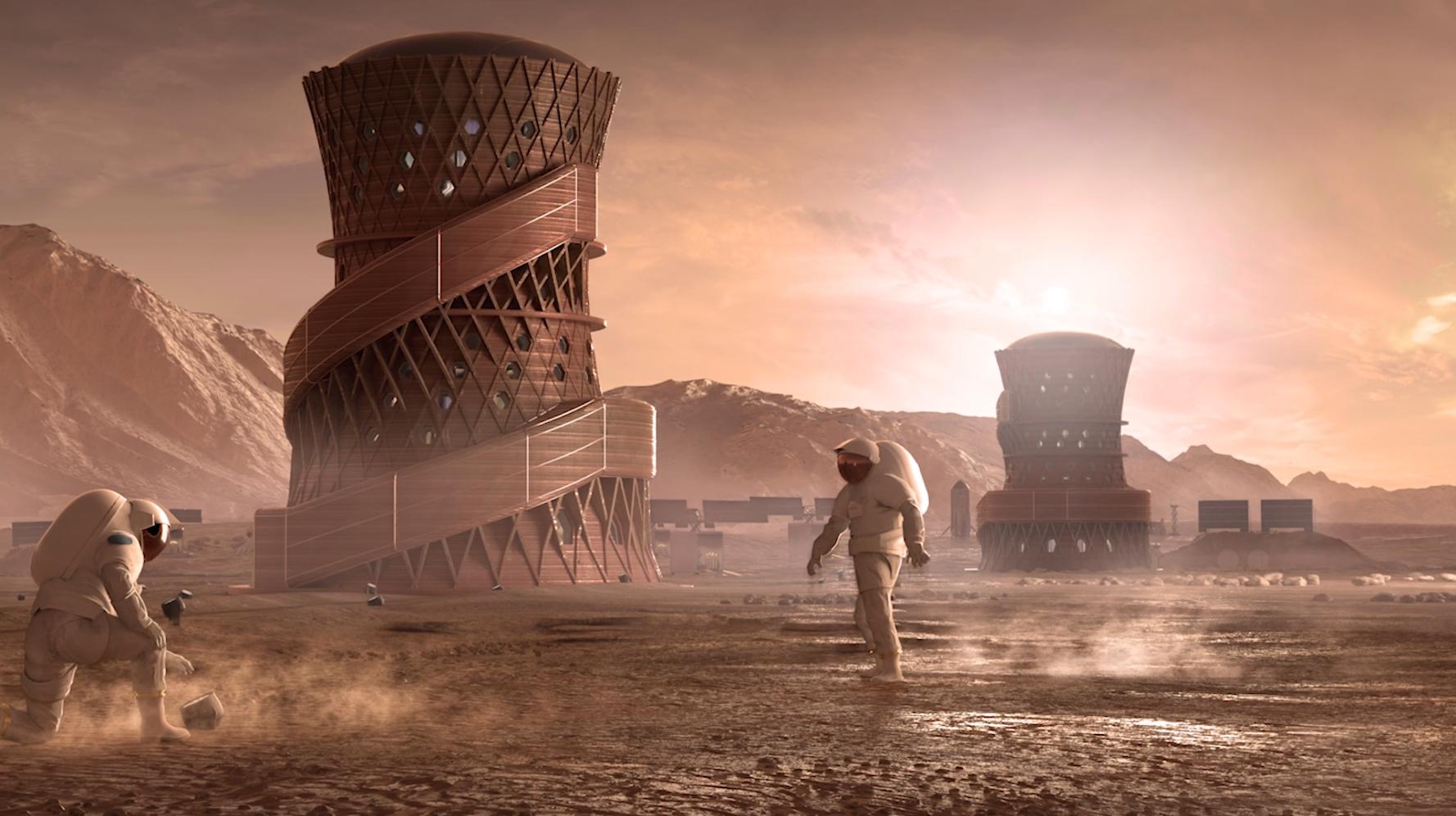 Один из проектов марсианских городов