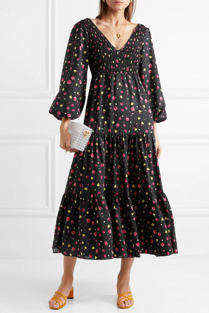 Платья с цветочным принтом - наш ответ серым осенним будням фото №9