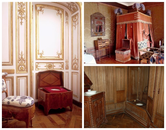 В Лувре и Версале горшки маскировали под любой предмет мебели, чтобы не портить интерьер.