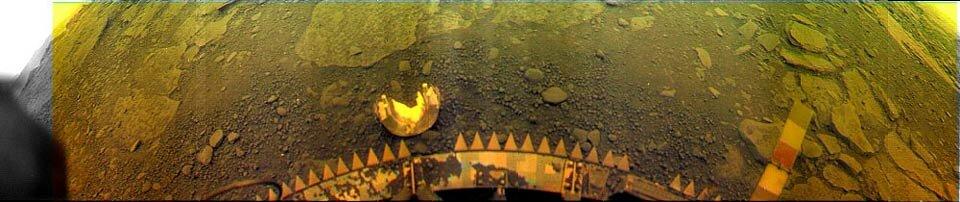 Цветная панорама поверхности планеты, переданная с борта «Венеры-14»  mentallandscape.com
