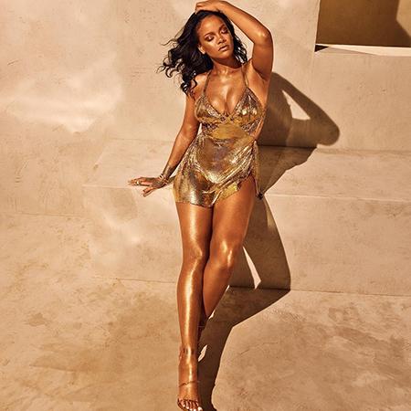 Блеск и золото: Рианна снялась в новой рекламе своей косметической марки Фотосессии
