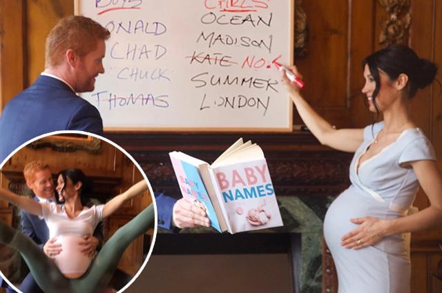 Йога для беременных и новорожденный малыш: двойники Меган Маркл и принца Гарри снялись в новом фотопроекте