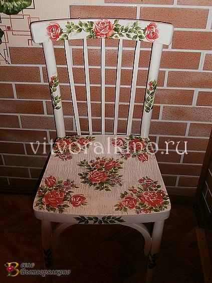 Реставрация стула в технике декупаж