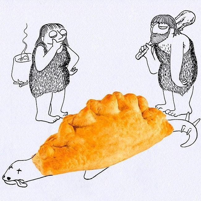 вот приколы с едой картинки рисунки клиентов