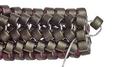 Как плести жгут из бисера. Схемы плетения и пошаговый мастер-класс (4) (400x228, 57Kb)