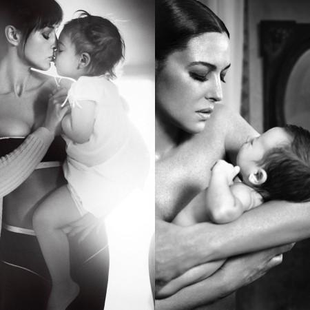 Моника Беллуччи поделилась ранее не известными фото дочерей от Венсана Касселя Дети,Дети знаменитостей