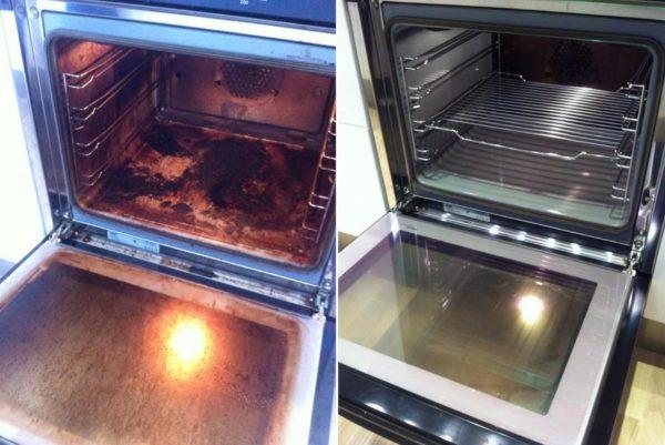 До смешного простой способ очистить духовку до блеска