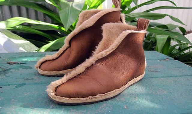 Шьем обувь из старой дубленки