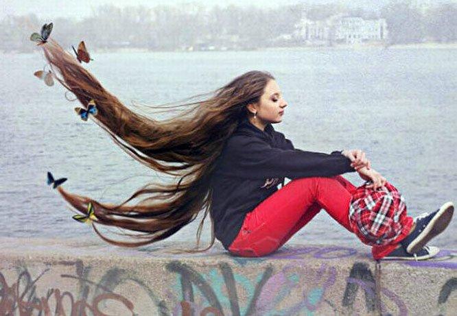 Фотографии девушек с длинным…