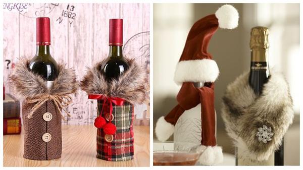 От простых до безумно креативных: 12 идей упаковки и декора бутылок к Новому году вдохновляемся,новогодний декор