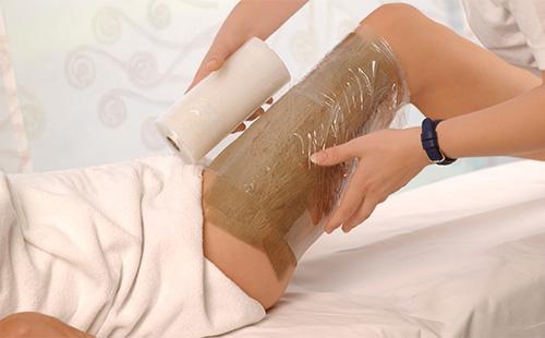 Обертывание ног с глинй