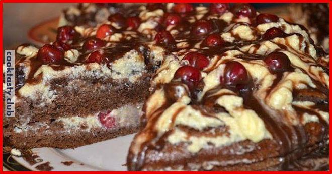 Очень вкусный торт &171;Вишневый поцелуй&187;