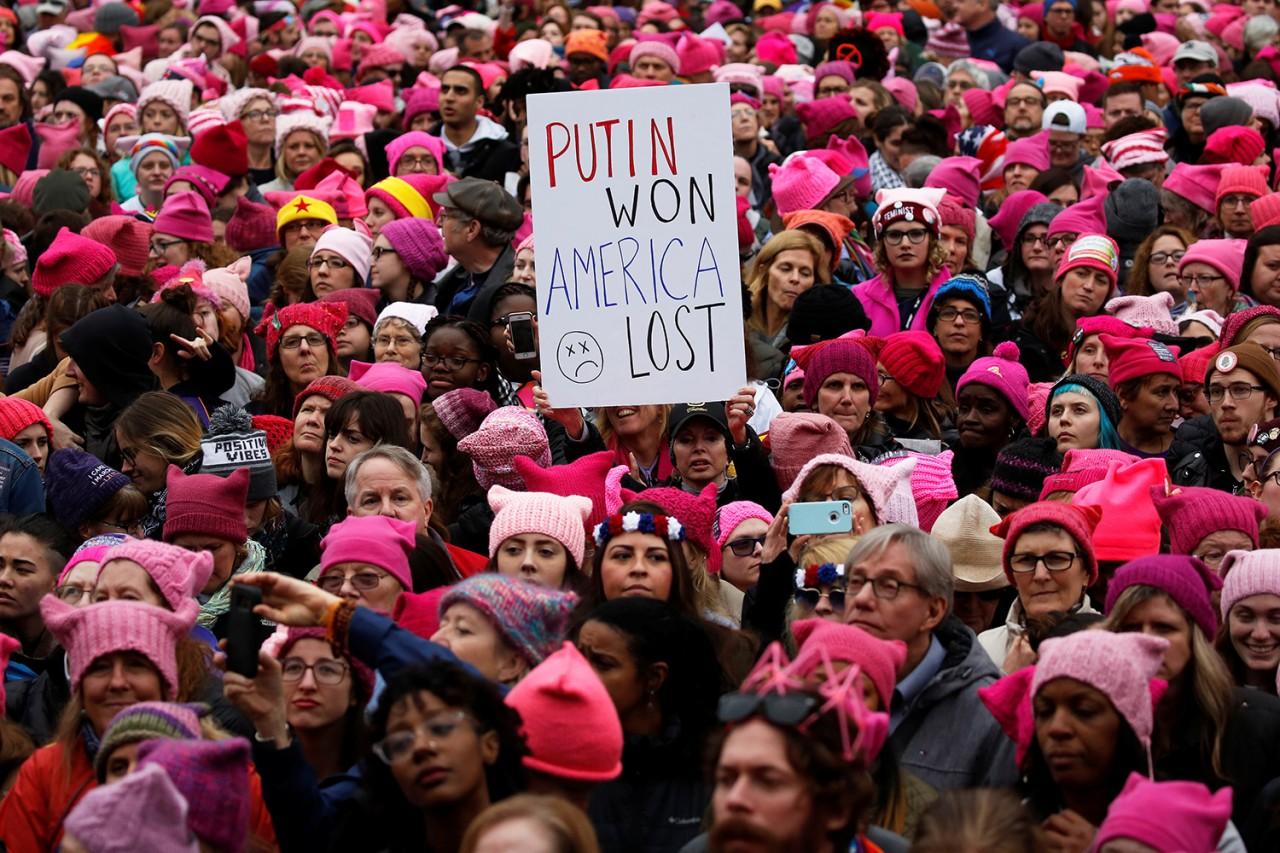 «Антитрамповские» марши женщин шествуют по миру
