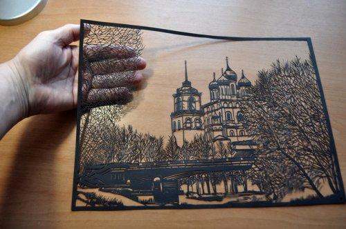 Изящные картины, вырезанные из бумаги псковским художником Виктором Кушнаренко