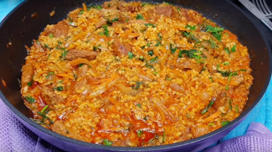 Очень вкусное блюдо к ужину из булгура и овощей