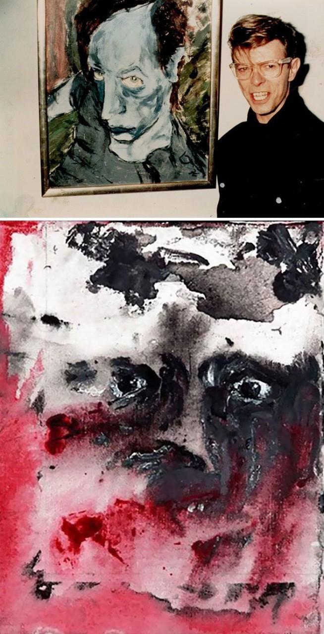 Дэвид Боуи живопись, звезды, знаменитости, кино, многогранный талант, неожиданное увлечение, художники, эстрада