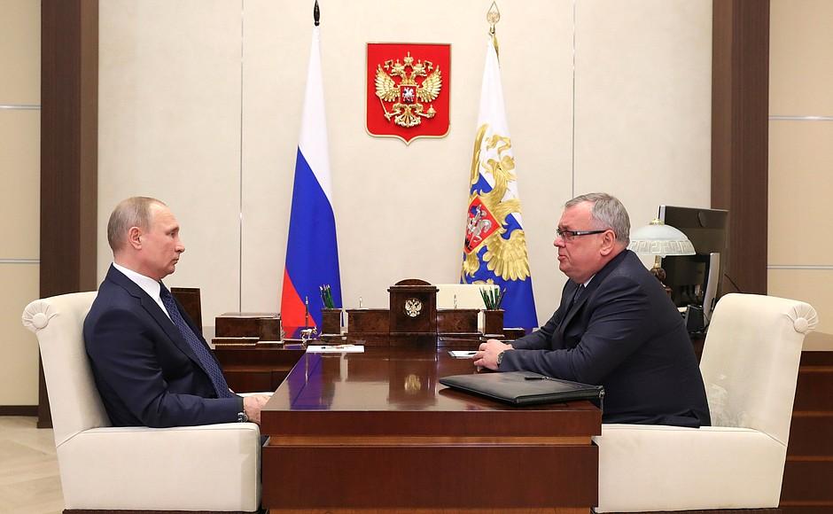 Встреча с президентом – председателем правления Банка ВТБ Андреем Костиным