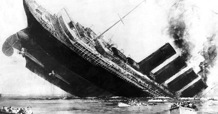 «Royal Mail Ship Lusitania»| Фото: The Mirror.