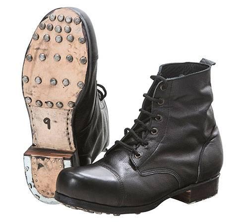 Армейские ботинки из Туманного Альбиона ботинки, солдат, сапоги, английских, случае, офицеров, черный, выпускались, началом, накладки, ботинок, Подошва, создавать, последнем, подошве, диверсантов, резиновой, взрывчаткой, боепитанием, каменные