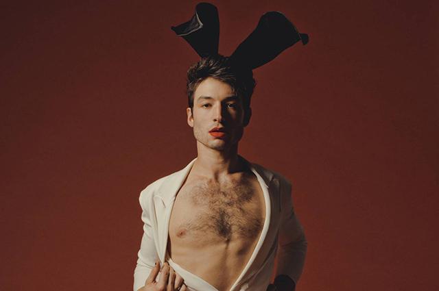Спешите видеть: Эзра Миллер снялся в женских колготках и кружевах для Playboy