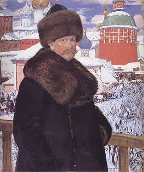 Автопортрет.(1912). Автор: Б.М.Кустодиев.