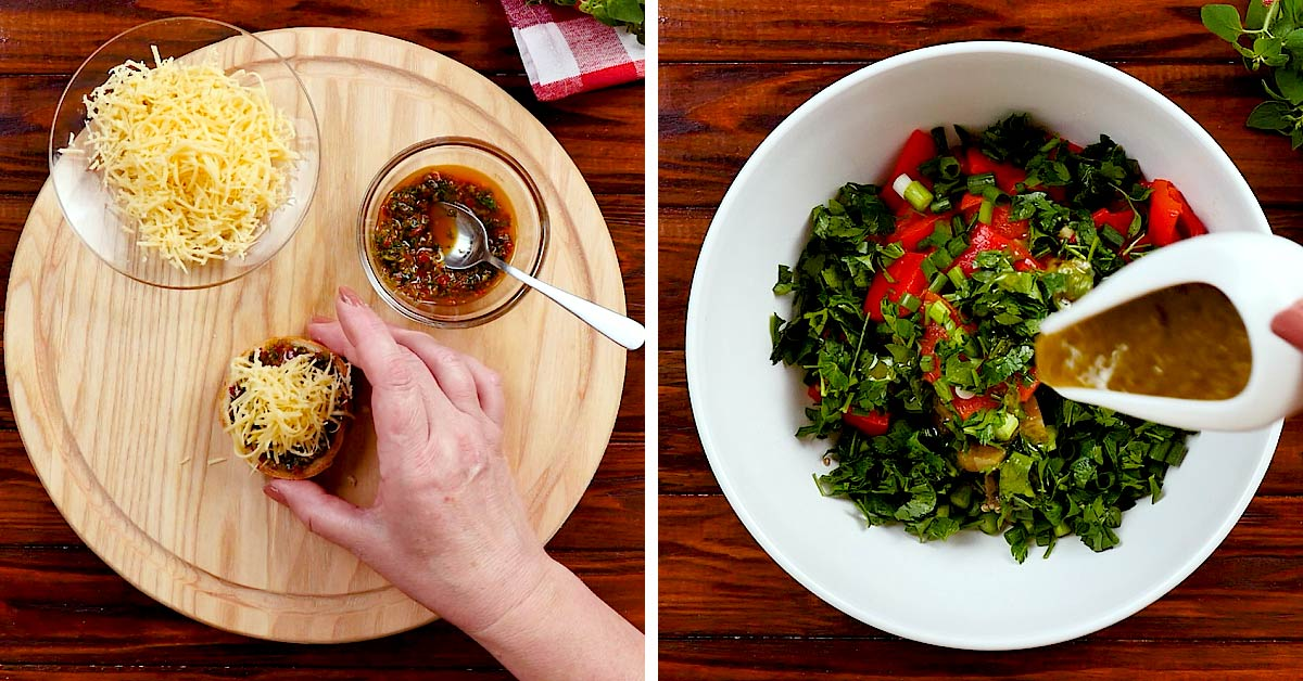 Салат из баклажанов с чесночным хлебом греческая кухня,закуски,кухни мира,салаты
