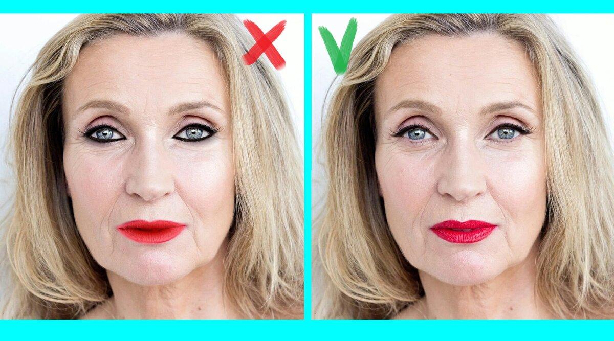 Уже 50 «стукнуло»: 3 вещи в макияже, от которых стоит отказаться женщинам в возрасте