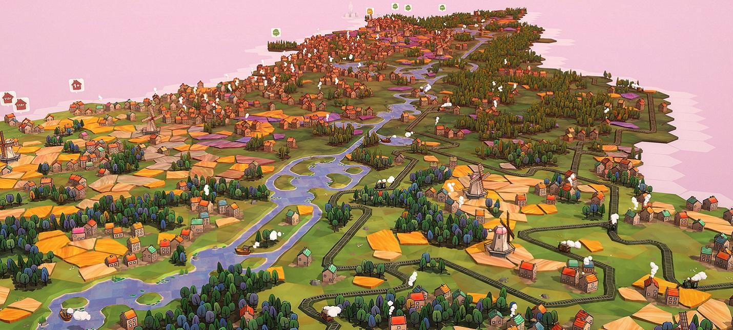 Расслабляющая градостроительная головоломка Dorfromantik вышла в раннем доступе adventures,logic,pc,ps,strategy,xbox,Аркады,Игры,Логические,Приключения