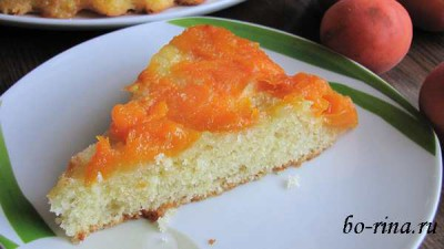 Пирог-перевёртыш с абрикосами