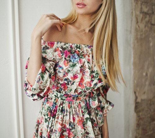 Платье -барышня-крестьянка-