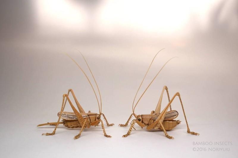 Удивительные насекомые из бамбука от японского мастера