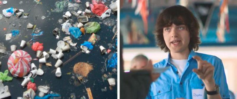 23-летний изобретатель придумал, как очистить от пластикового мусора Тихий океан за 5 лет