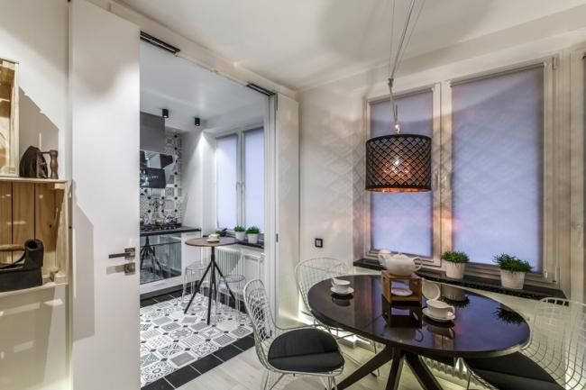 Дизайн кухни 7 кв.м. в хрущевке с дверью-книгой идеи для дома,интерьер и дизайн