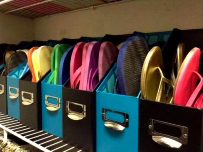 Хранение летней обуви.