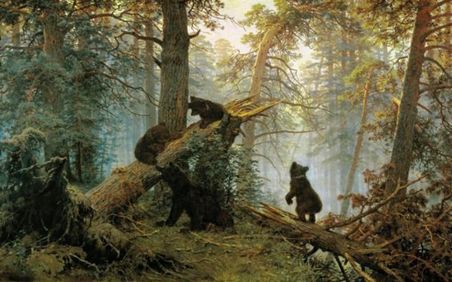 Не то, чем кажется — тайна  картины «Утро в сосновом лесу» Ивана Шишкина