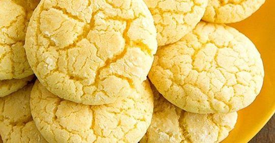 Безумно вкусное лимонное печенье на кефире