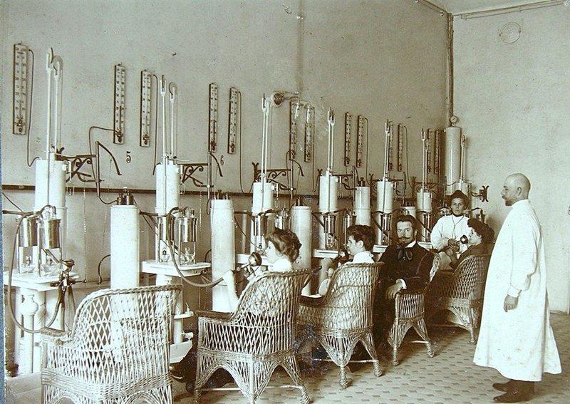 Ингаляция. Сестрорецкий курорт, Санкт-Петербург, 1913 год Весь Мир в объективе, ретро, старые фото