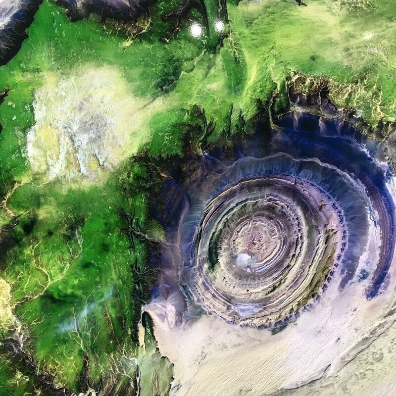 Как выглядит мистическое «Око Сахары» Око Сахары, Структура Ришат, загадка, земля, мистика, планета, природа, удивительно